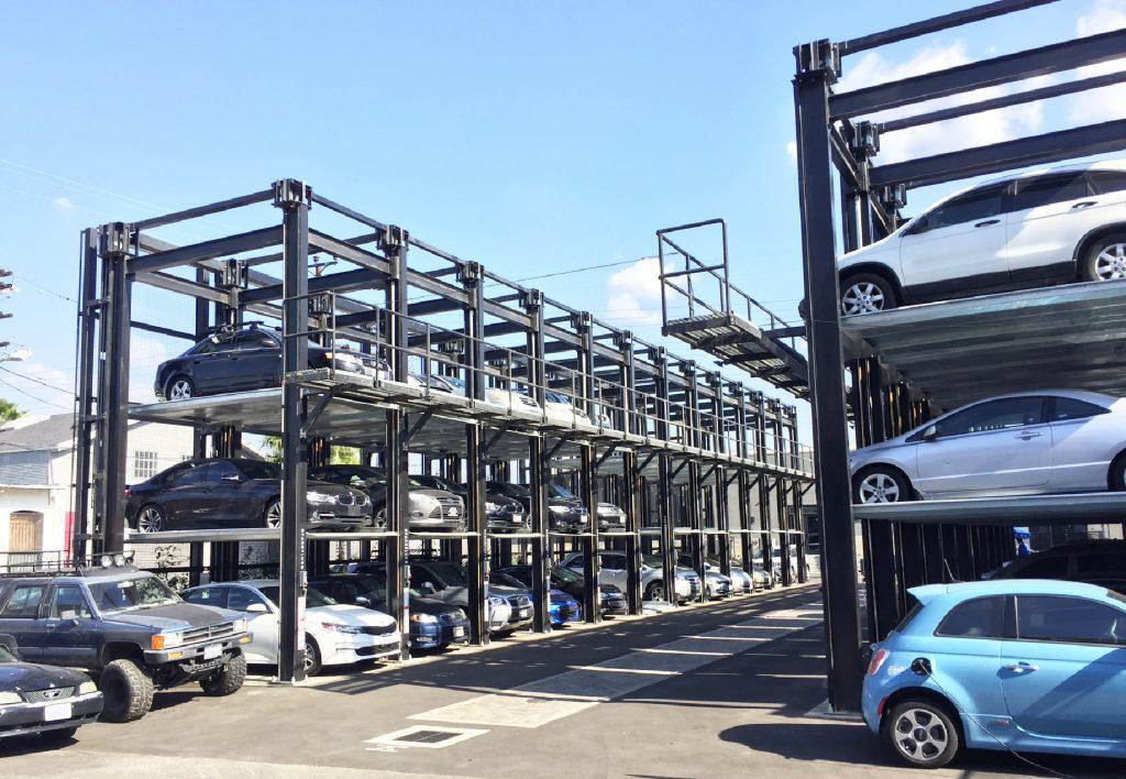 Triple Car Parking Rack