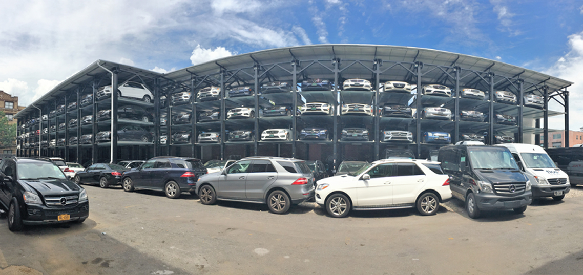 Quad stackers mercedes dealership new york city for Mercedes benz dealers in long island ny