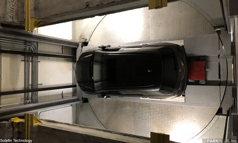 Loading Bay of New York Automated Parking System from above