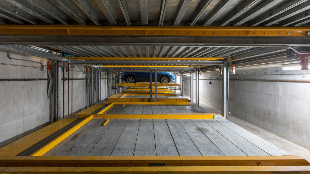 PARKPLUS Semi-Automated Lift-Slide Puzzle Parking system pit