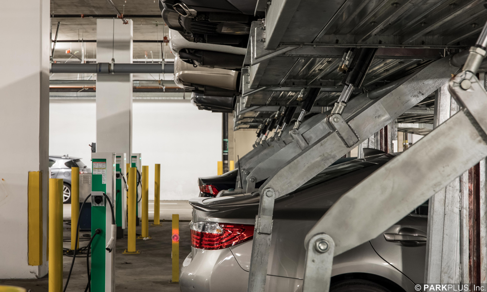 Parking Lift Electric Vehicle Charging